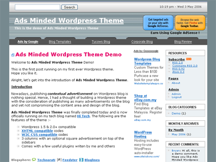 Ads Minded WordPress Theme