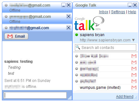Google Talk Blue Theme