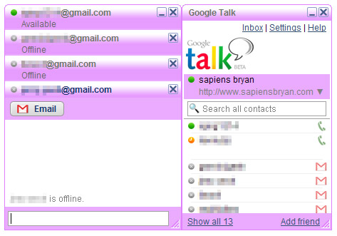 Google Talk Purple