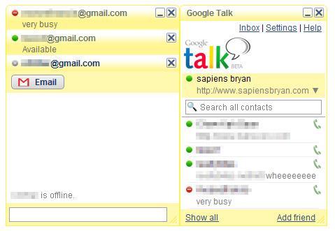 Google Talk Yellow