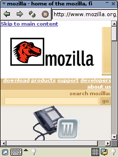 Mozilla Website Under CSS
