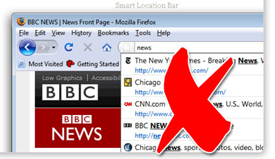 Disable Firefox 3.0 Smart Location Bar