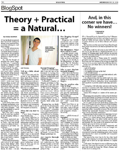 Malay Mail BlogSpot Interview