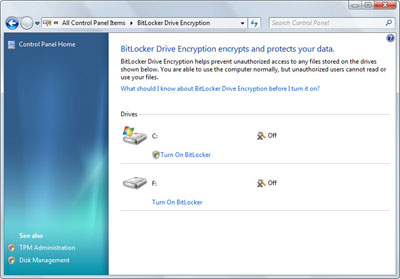 Windows 7 BitLocker Encryption