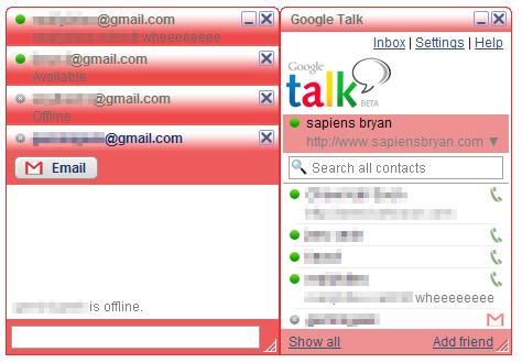 Google Talk Red Theme
