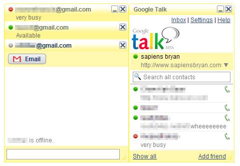 Google Talk Yellow