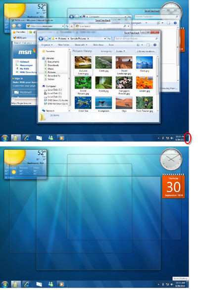 Windows 7 Desktop with Gadgets